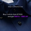 Volt fashion Eton offer Buy 2 shirts from eton and get 500kr/ 50euros off