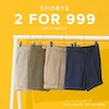 shorts 2 for 999