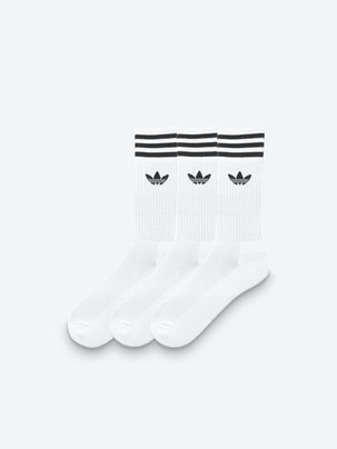 Solid Crew Socks 3-pack . Front. Flat. e481ee94bb525