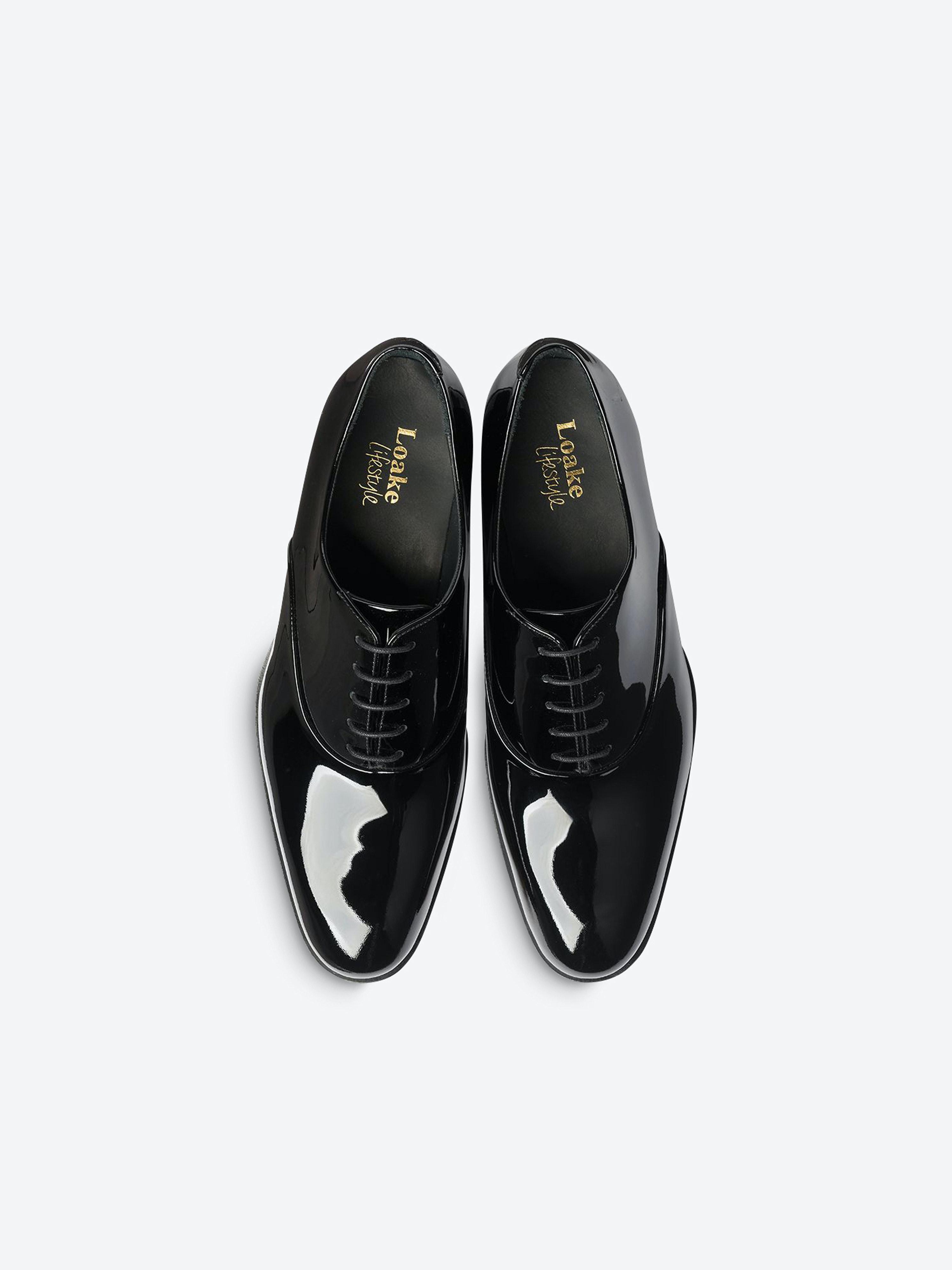 Loake Patent Leather Shoes Black   Men